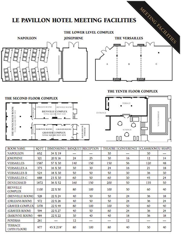 Le Pavillon Louisiana Floor Plans